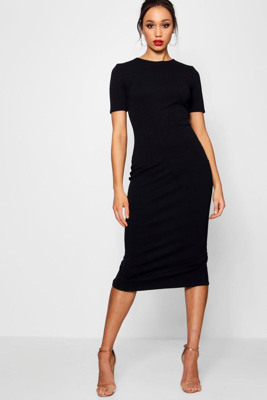 Tall Short Sleeve Tailored Midi Dress Boohoo Short Sleeves Dress Formal Stylish Maternity Outfits Black Formal Dress Short [ 1500 x 1000 Pixel ]