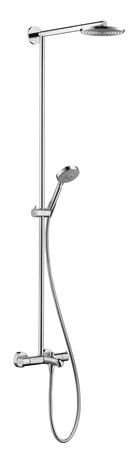 "Raindance S 180 Tub/Shower ShowerpipeComprised of      Raindance S 180 AIR 1-Jet Showerhead (# 27476001)     Raindance S 100 AIR 3-Jet Handshower (# 28504001)     Techniflex Hose, 63"" (# 28276003)"