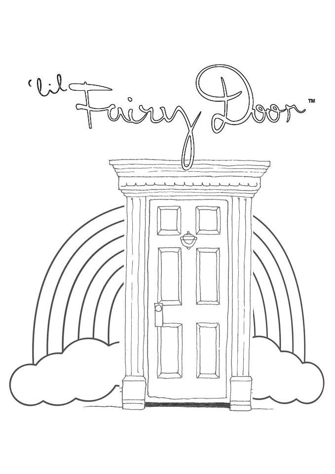Template Fairy Door Fairy Coloring Pages Fairy Coloring Tooth Fairy Pillow