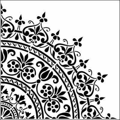 Aureola Stencils Moroccan stencil, Stencils, Mandala stencils