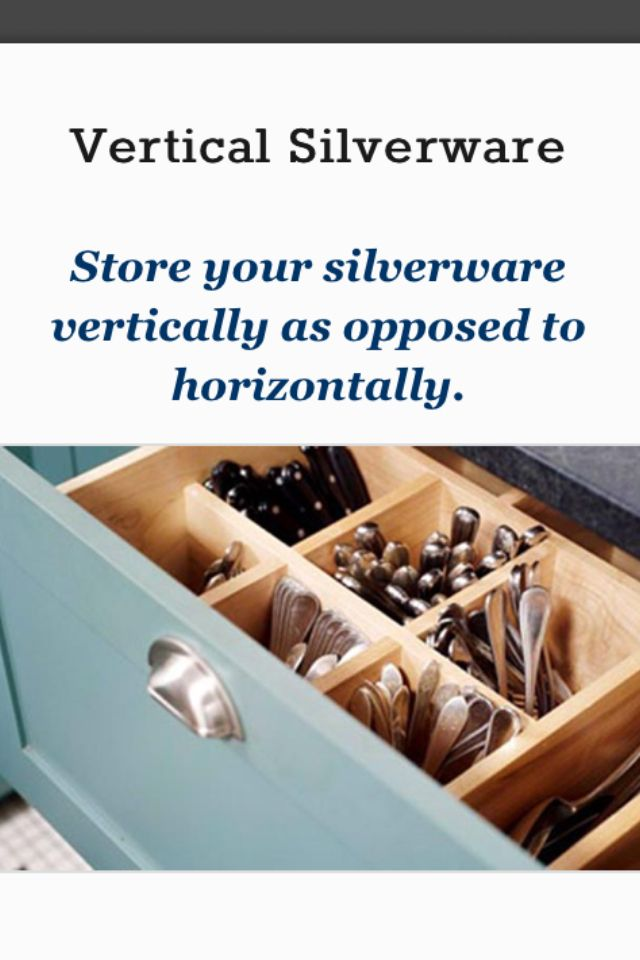 Silverware Storage Idea