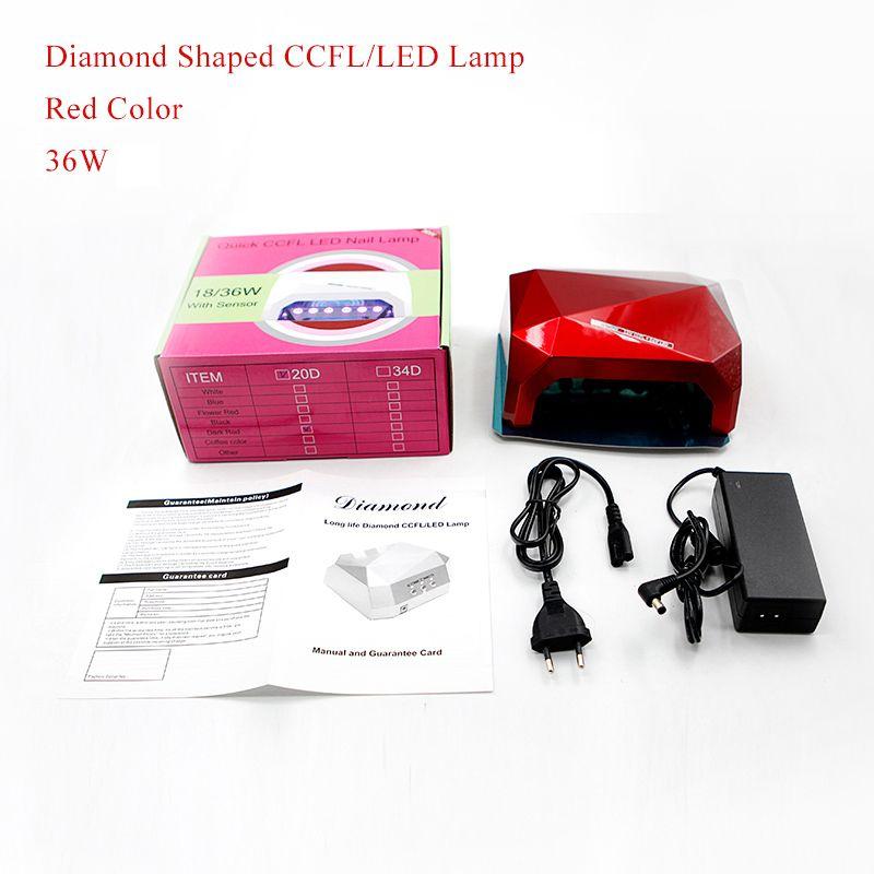 Belle Fille UV LED Lamp Diamond Shaped UV Gel Fast Curing Nail Lamp ...