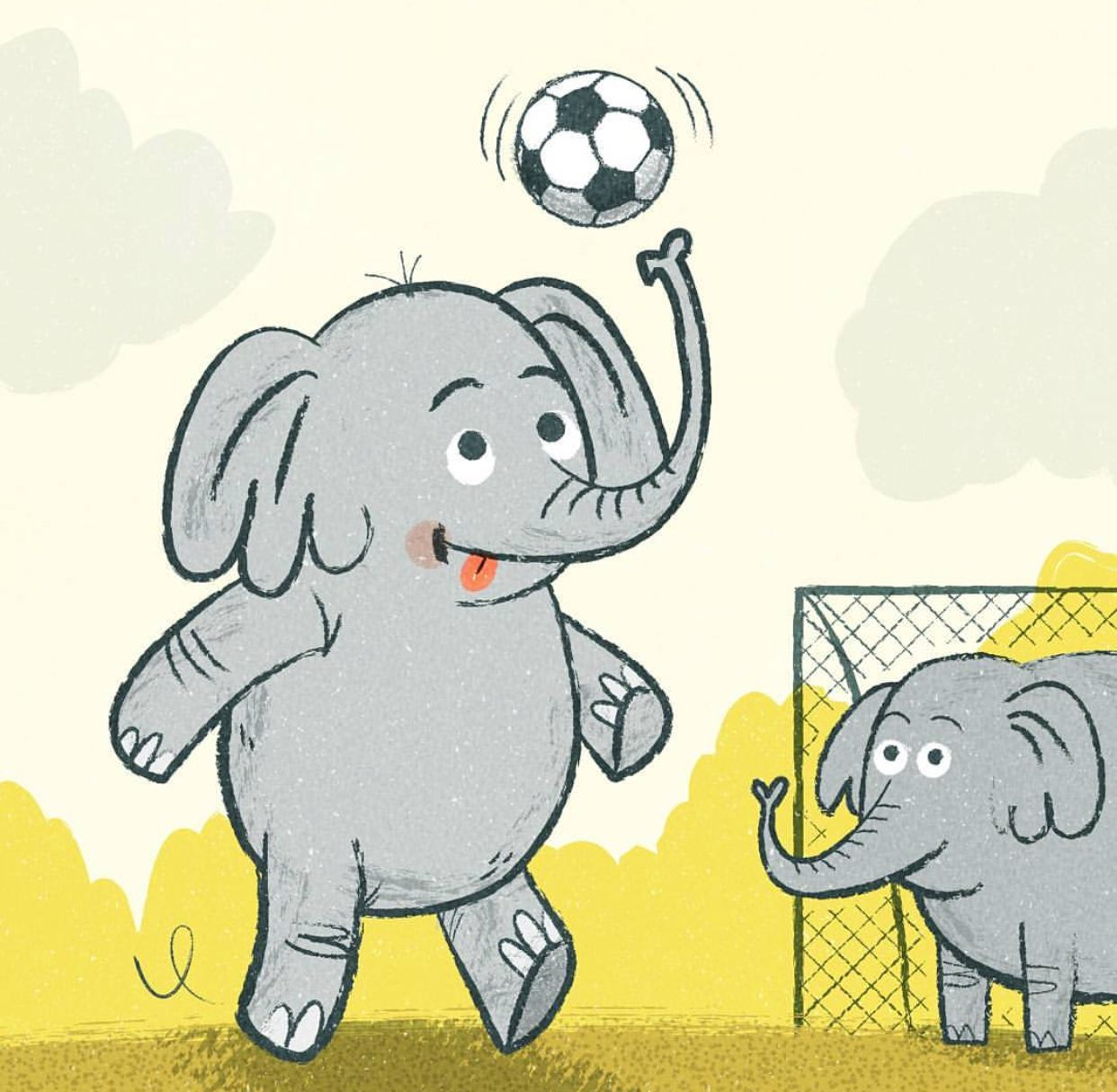 15+ Animals Playing Football Clipart