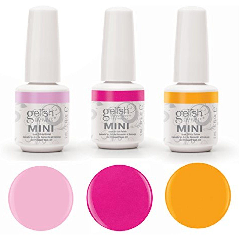 Gelish Neon Street Beat 3 Color Gel Nail Polish Kit Includes 3