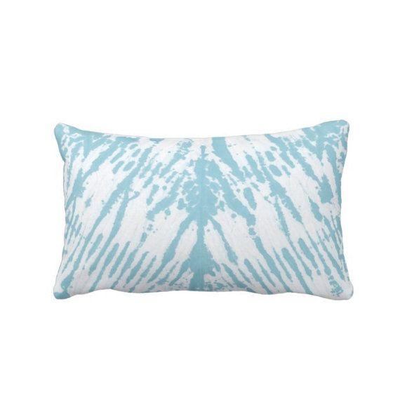 Shibori Pattern Throw Pillow Aqua And White 40 X 40 Lumbar OUTDOOR Impressive 13x21 Pillow Insert