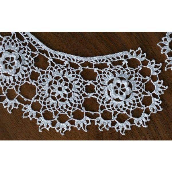 Free Irish Crochet Lace Collar Pattern Found On Polyvore Crochet