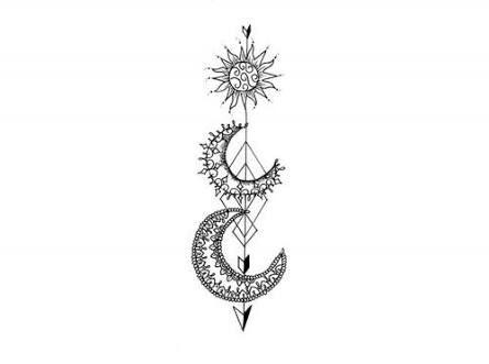 Pin By Alondra Gomez On Tattoos Tattoos Sun Tattoos Moon Sun Tattoo