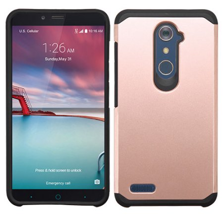 competitive price 29cfd 45b55 Mundaze Rose Gold Slim Double Layered Case For ZTE Blade X Max / Max ...
