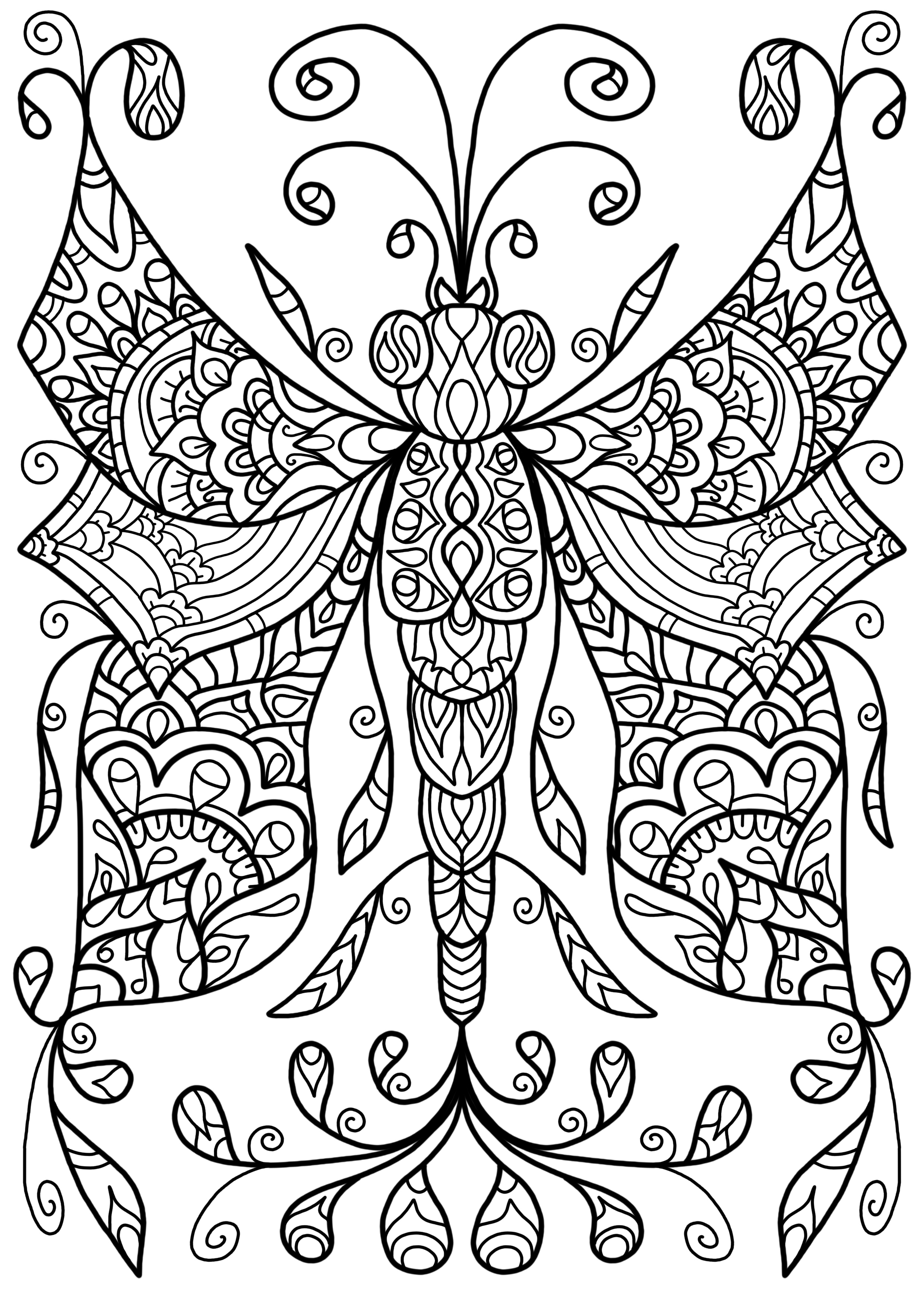 Free Colouring Page - Dragonfly Thing by WelshPixie.deviantart.com ...