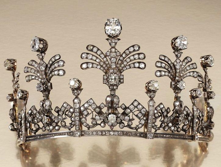 Antique Tiara (mid 19th c.; diamonds).
