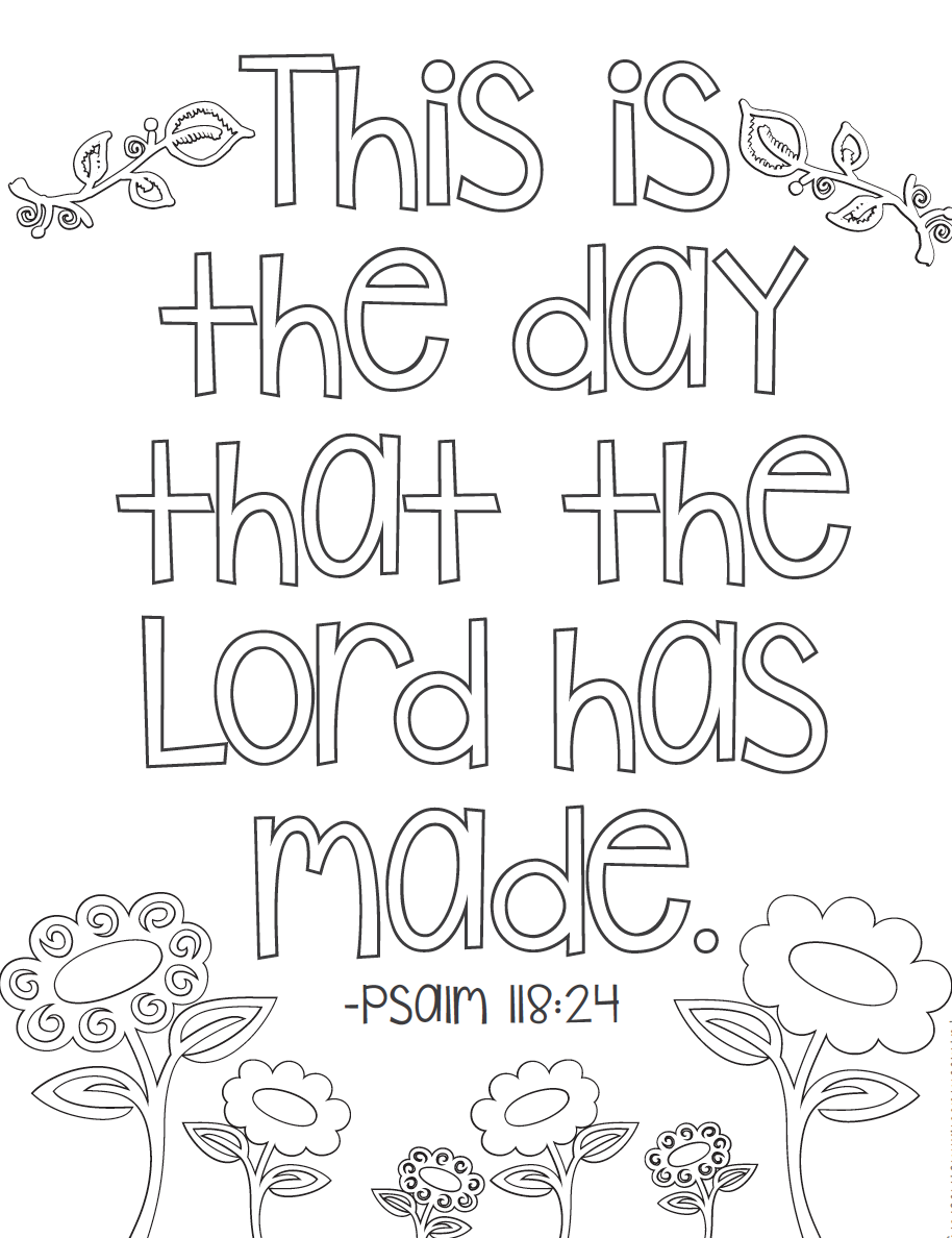 Free bible verse coloring pages coloring books for Printable bible coloring pages kids