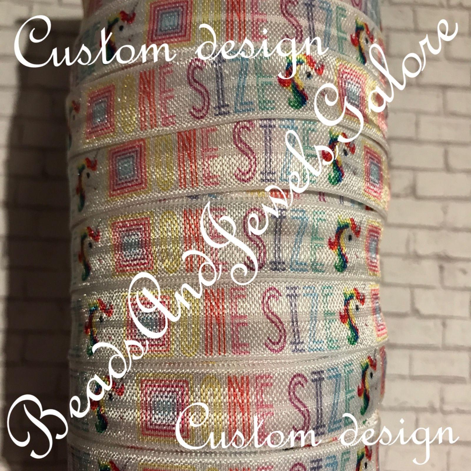 Ribbon 71224  Lularoe Foe Lularoe One Size Unicorn Foe Elastic Lularoe Hair  Ties - 5 cab51b03792