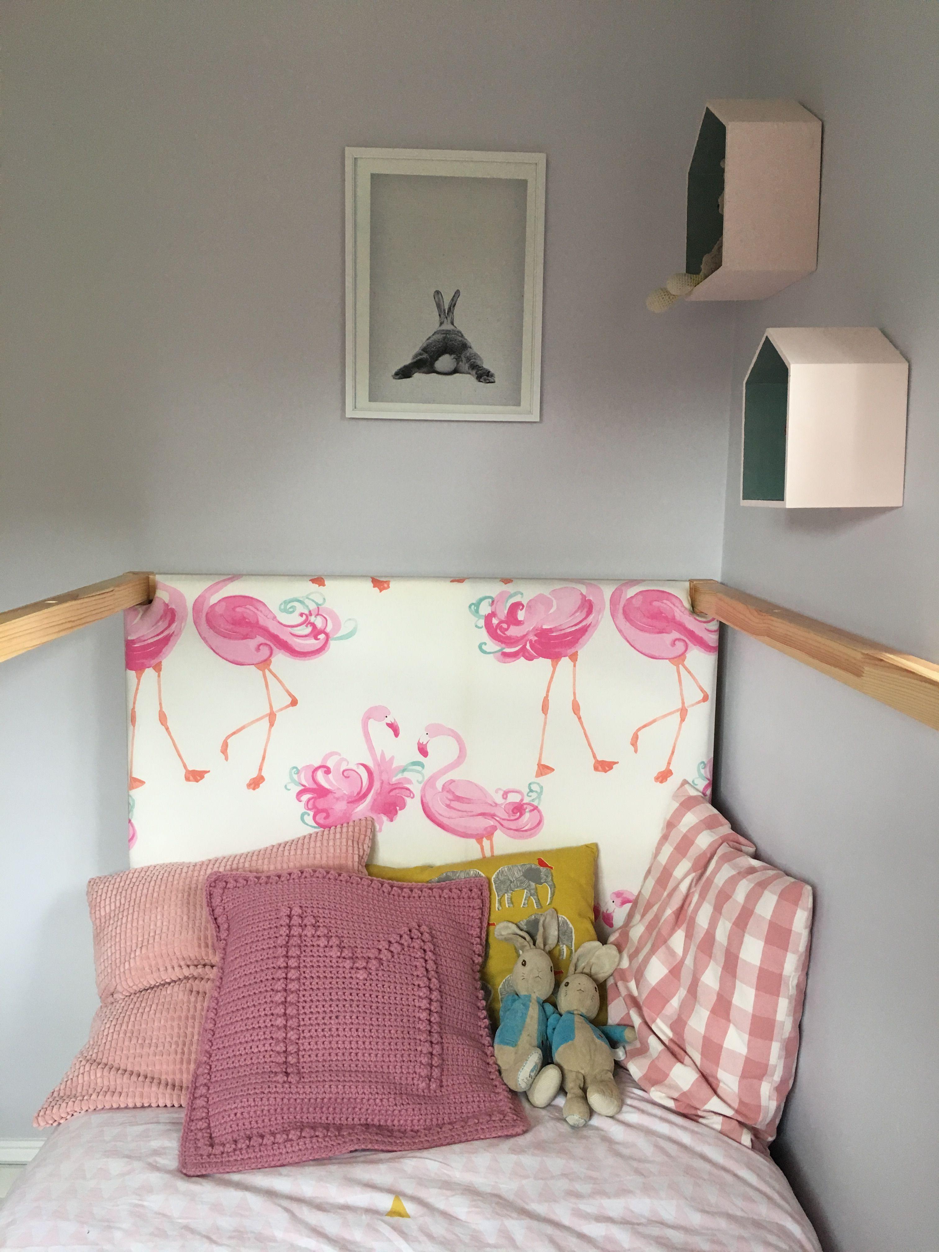 Headboard, Diy, Flamingos, Bedroom, Kura Bed