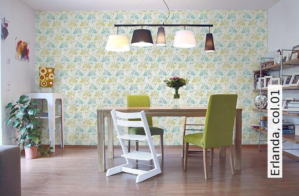 Erlanda, col01 Tapeten - schlafzimmer ideen grau braun