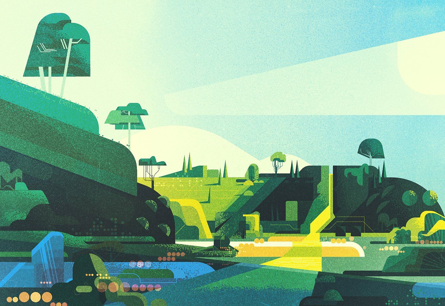 "James Gilleard on Twitter: ""Geometric landscape no.8 https://t.co/Z0jYOQM3Zv"""