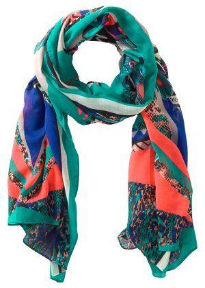 Le foulard style ethnique, RAINBOW, vert bleu saumon   Vêtements et ... f436079f91d