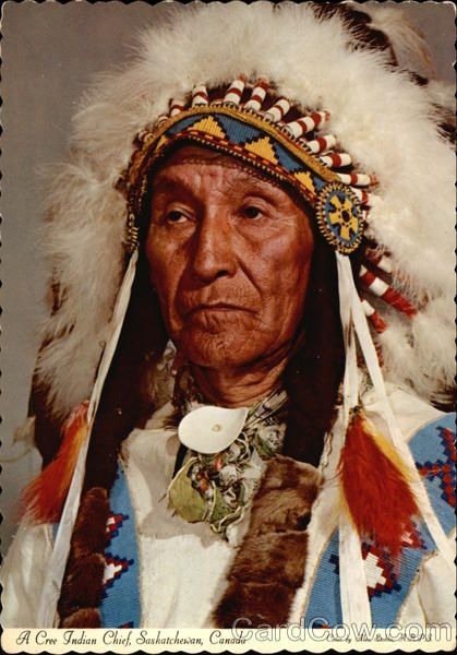 A Cree Indian Chief, Saskatchewan, Canada | NATIVE ...