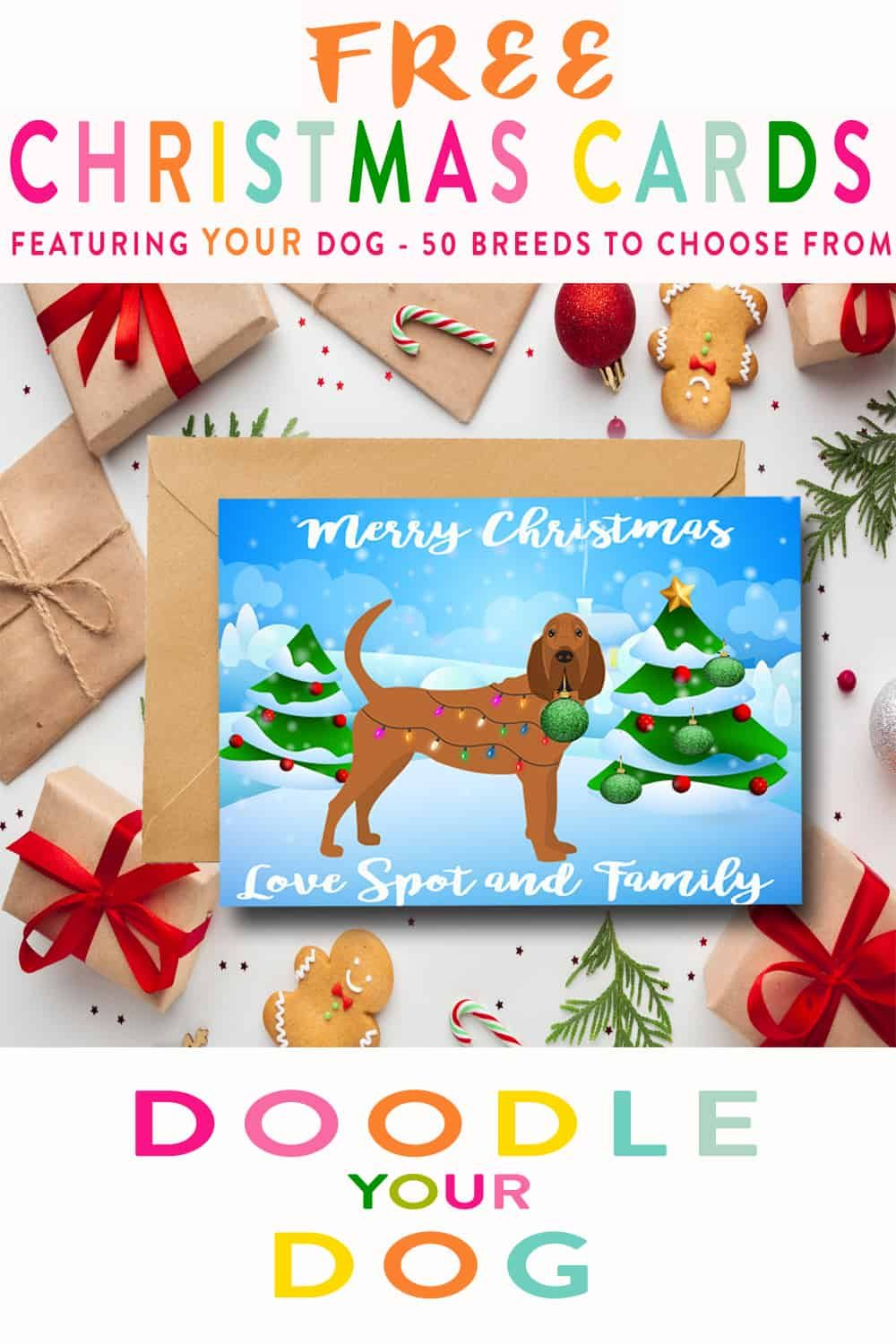 Christmas Card Ideas Personalized YOUR Dog Diy