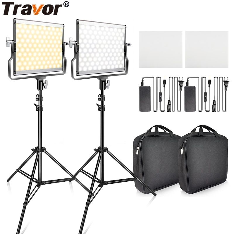 Video Light With Tripod Dimmable 3200k 5600k Studio Photo Lamp Led Photography Lighting For Wedding News I Video Li Photo Lamp Video Lighting Light Photography