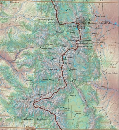 Continental Divide Colorado Map Continental divide trail Colorado | Hikes | Continental divide  Continental Divide Colorado Map