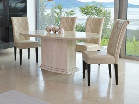 Caprice Marble Table Oval Table Dining Table