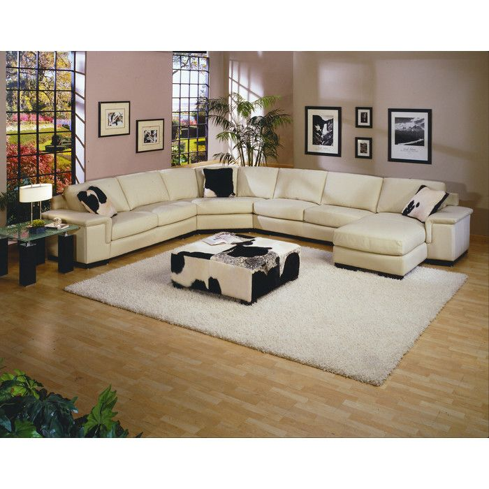Omnia Leather Mercedes Sectional U0026 Reviews | Wayfair