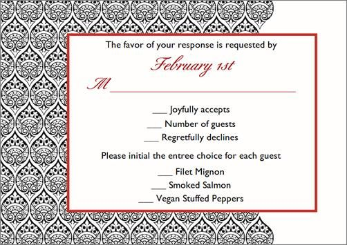 Wedding RSVP cards don t need to be boring k out the wording
