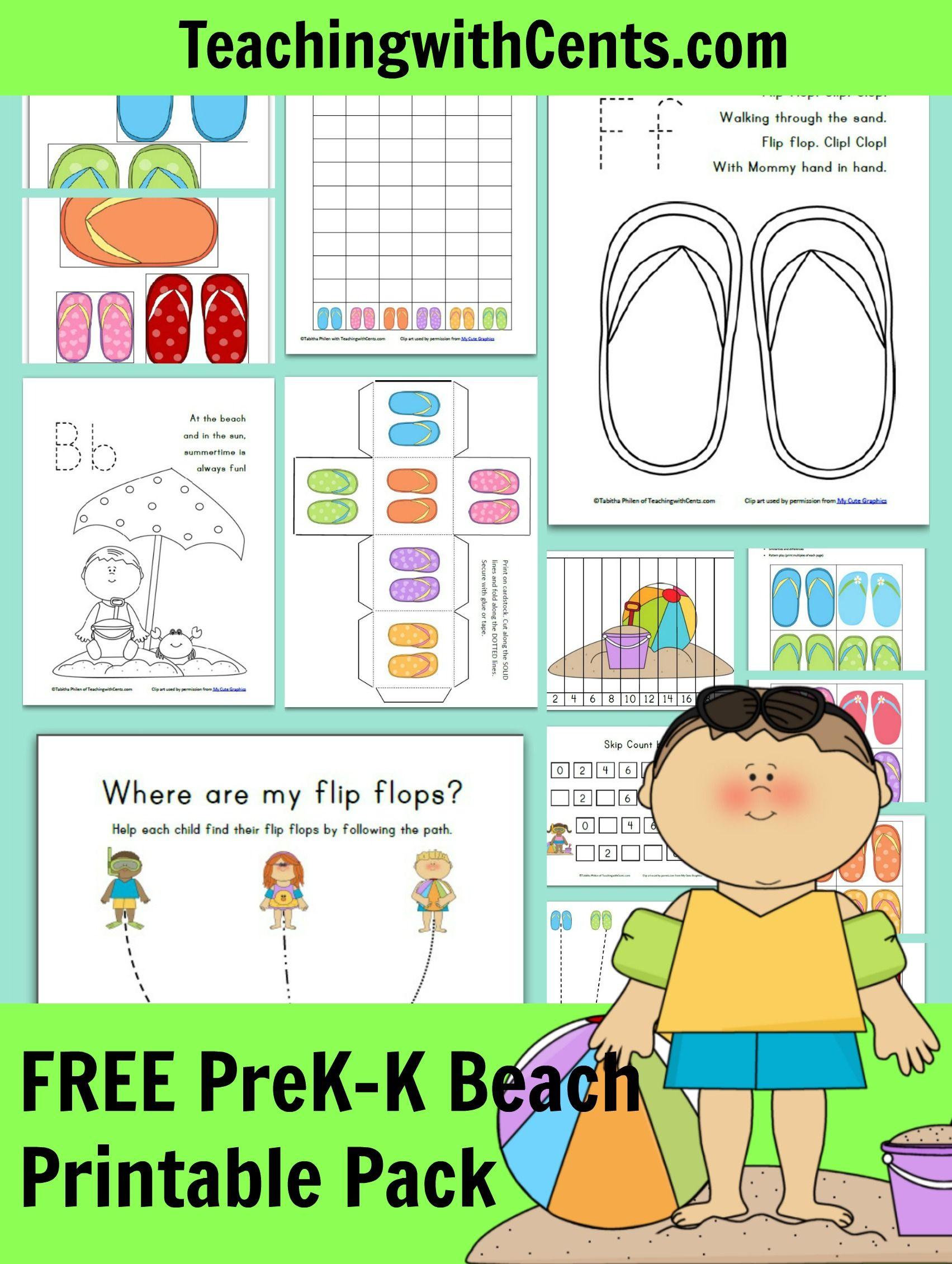 Free Beach Printable Pack