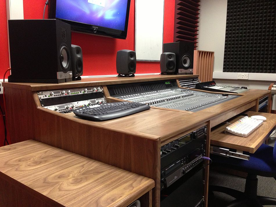 Custom Desk From Studioracks To Incorporate The C24 Mixer Avid With Pull Out