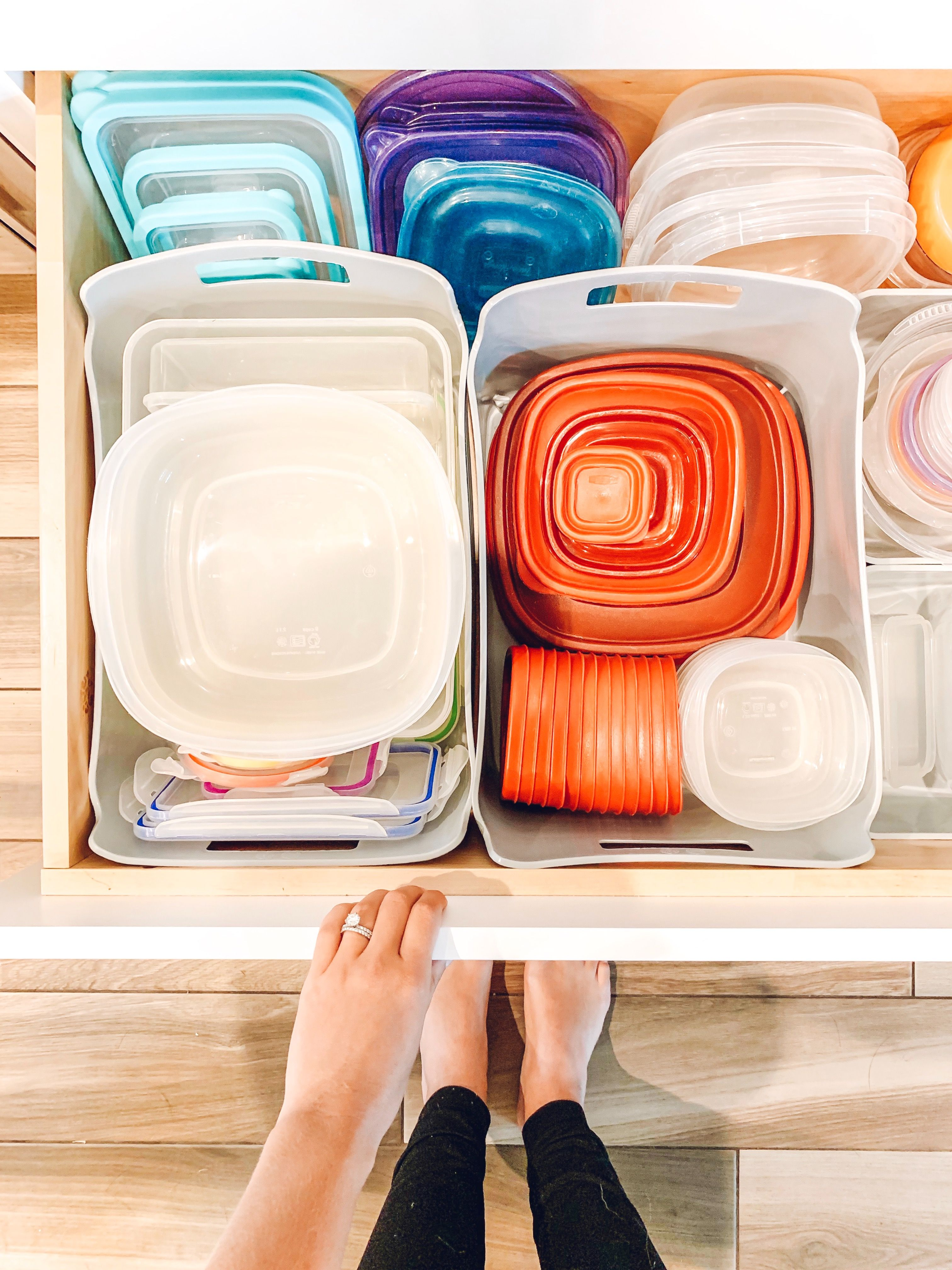 tupperware organization with images tupperware organizing home diy little boxes on kitchen organization tupperware id=50172