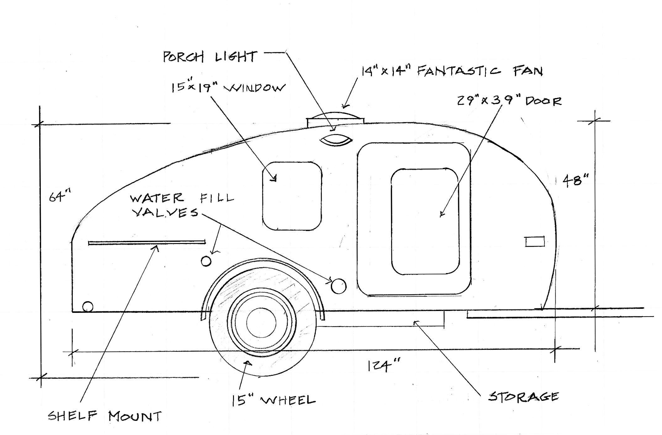 Pricing Features Timberleaf Teardrop Trailers Tiny Traveller Caravan Wiring Diagram Travel