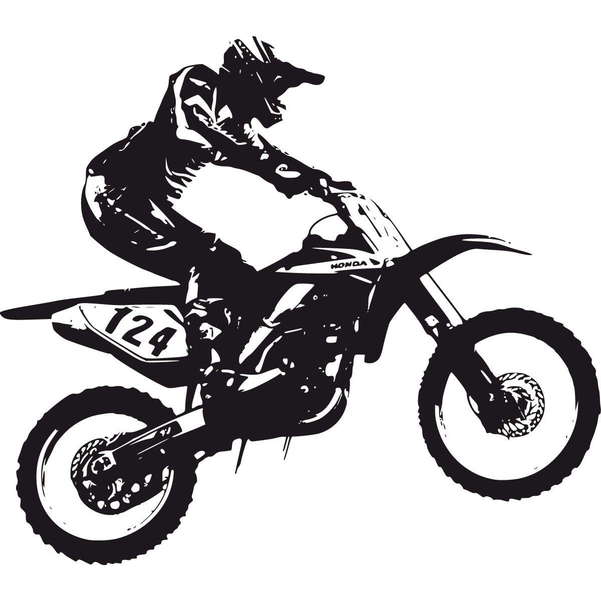 Dirt Bike Scrambler Wall Deca | Kids Decor Ideas | Pinterest | Dirt ...