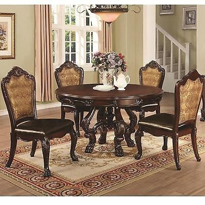 Benbrook Formal Dining Table with Claw Feet and Palmette Details 5