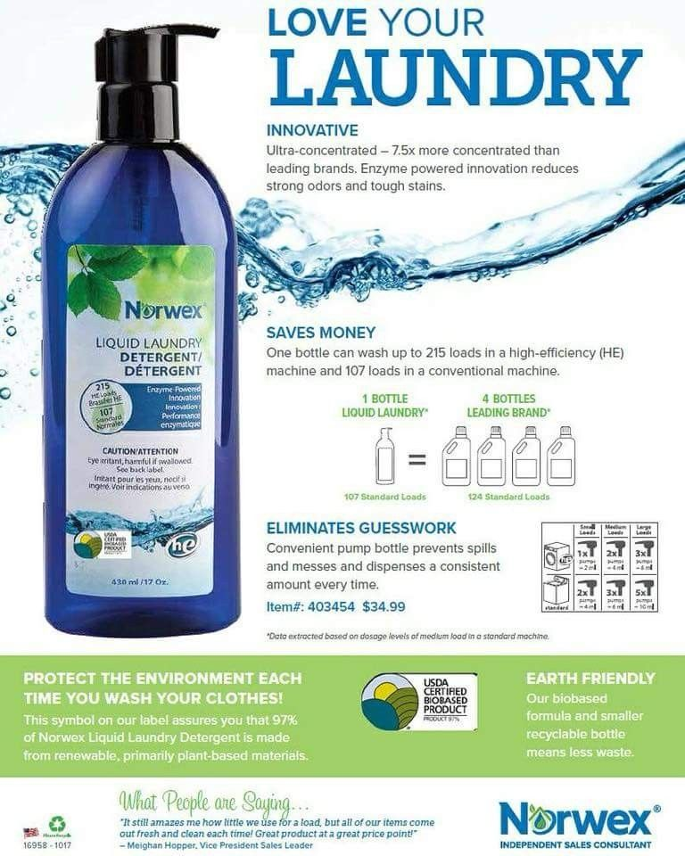 Pin By Justine Lefkowith On Norwex Norwex Laundry Detergent Norwex Detergent Norwex