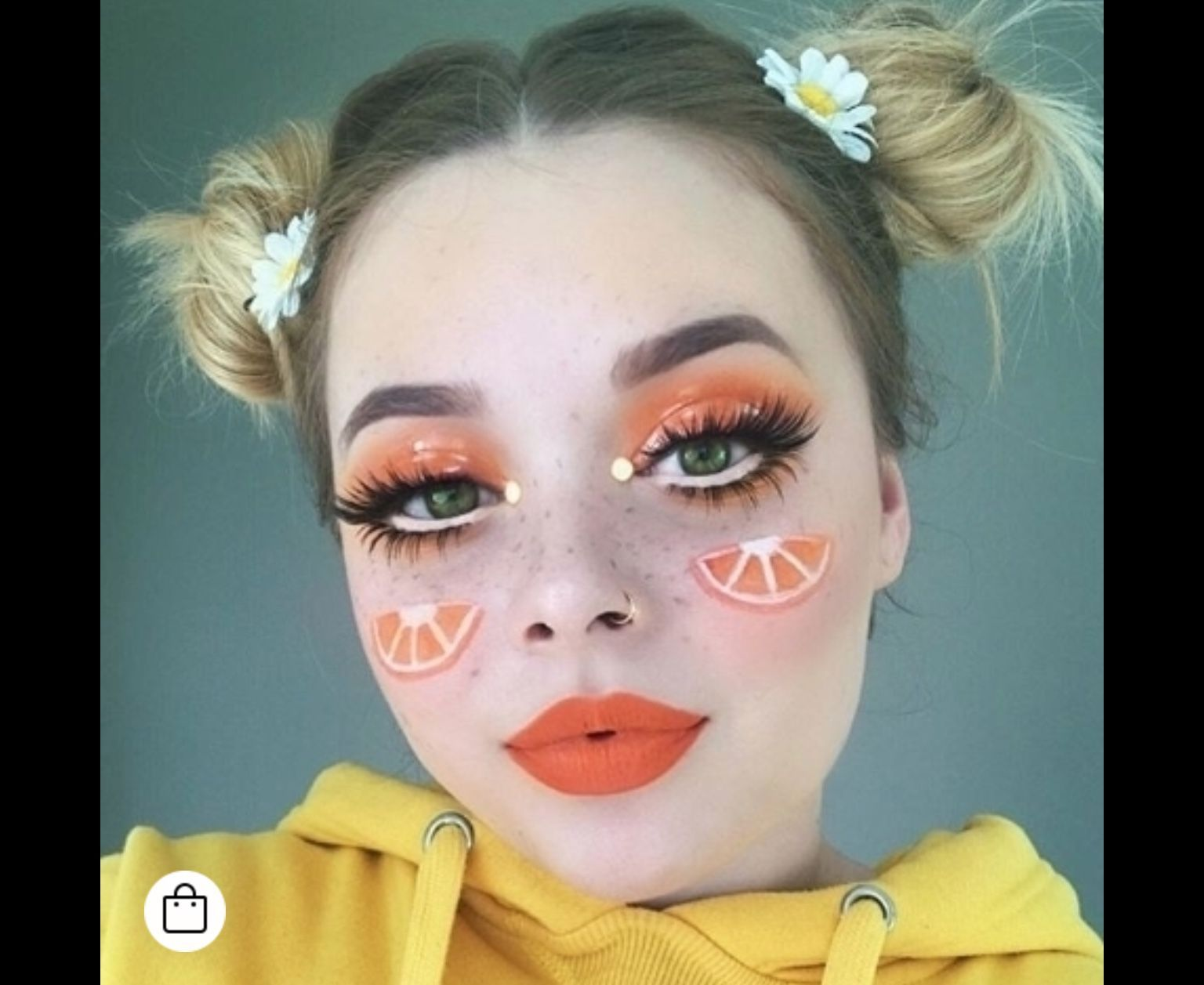 Orange Fruit Makeup Makeup In 2019 Orange Makeup With Images