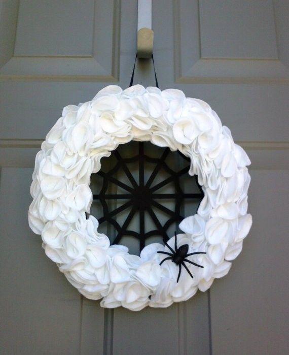 Halloween Decor Ideas Halloween Wreath White Halloween Decor - fun halloween decorating ideas