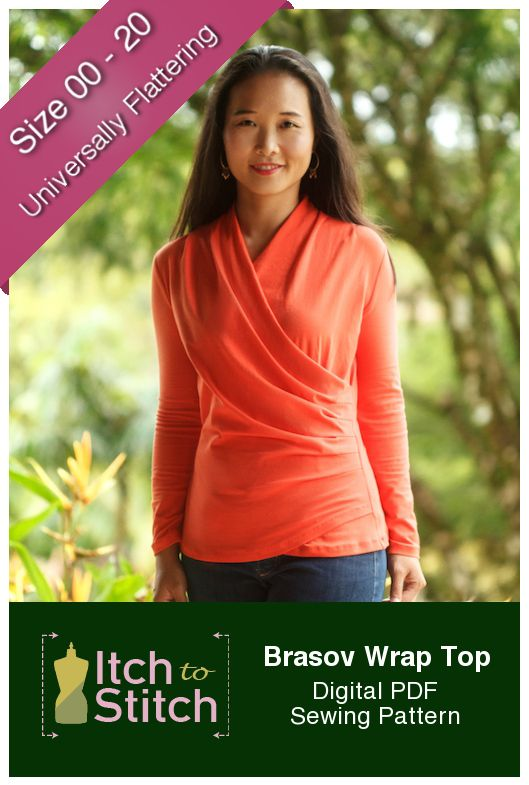 New Pattern: Brasov Wrap Top | Tops Sewing Patterns and Inspiration ...