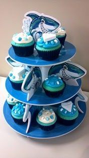 Shark Week Cupcakes! #sharkweekfood Shark Week Cupcakes! #sharkweekfood