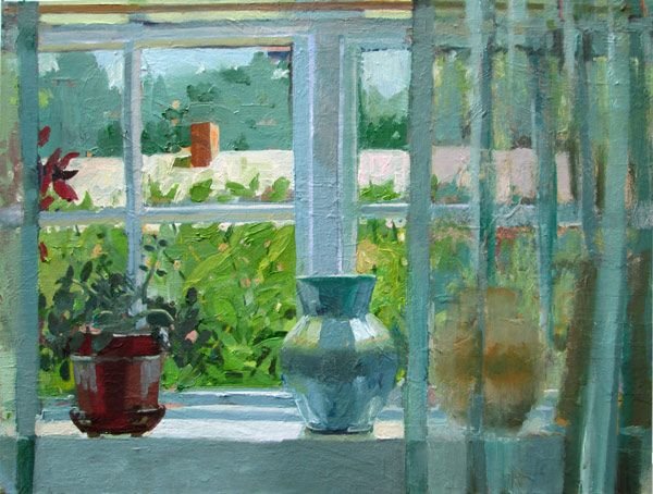 Curtains Ideas curtain paintings : Carole Rabe - Artist Through a Curtain Oil on canvas, 18 x 24 ...