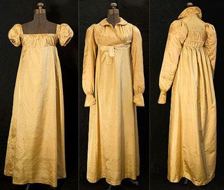ca 1807 Silk Dress - courtesy Linda Ames, vintagetextile.com