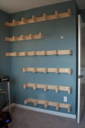 How to Build Floating Shelves Under $150 is part of Industrial Living Room Shelves - Step by step tutorial for how to build floating shelves for an industrial masculine office  These shelves only cost $150 to build!