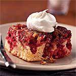 Cranberry Upside-Down Cake with Cognac Cream Recipe   MyRecipes.com