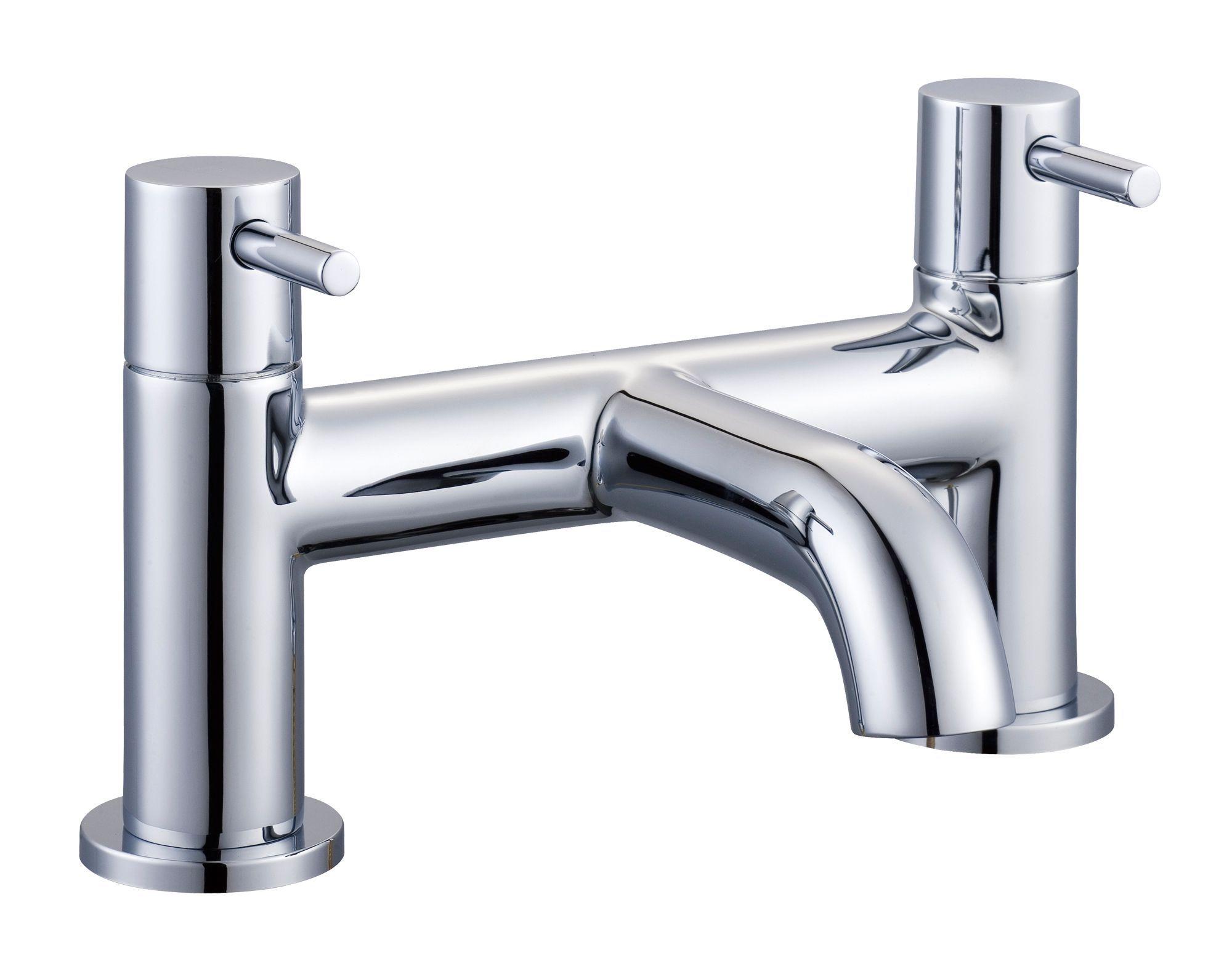 Cooke & Lewis Minima Chrome finish Bath mixer tap | Bathroom ...