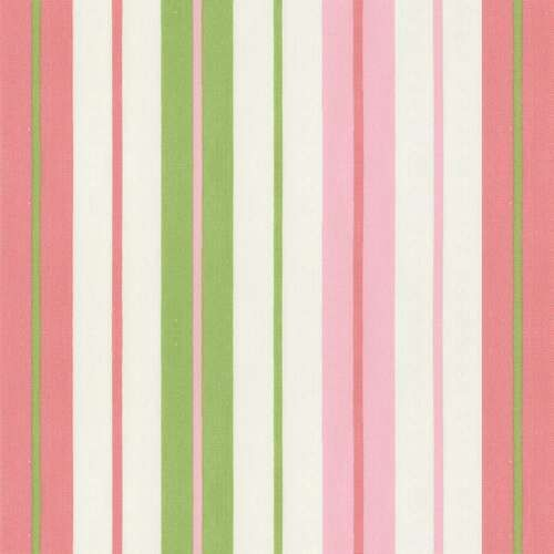 Pink Lime Stripe Fabric By The Yard White Carousel Designs