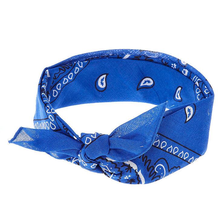 Paisley Bandana Headwrap Royal Blue Head Wraps Blue Paisley Royal Clothing