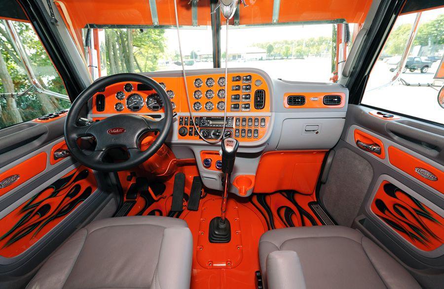 Peterbilt Interior Semi Trucks Pinterest