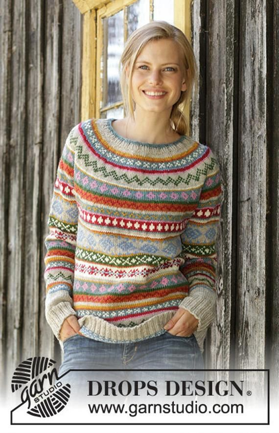 f15a99b770b47 Billedresultat for fair isle strikkeopskrifter gratis. Hand knitted women s  jumper and hat nordic sweater