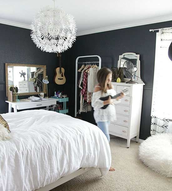 5 dark but not daunting paint colors decorating for Paint colors for bedroom with dark furniture