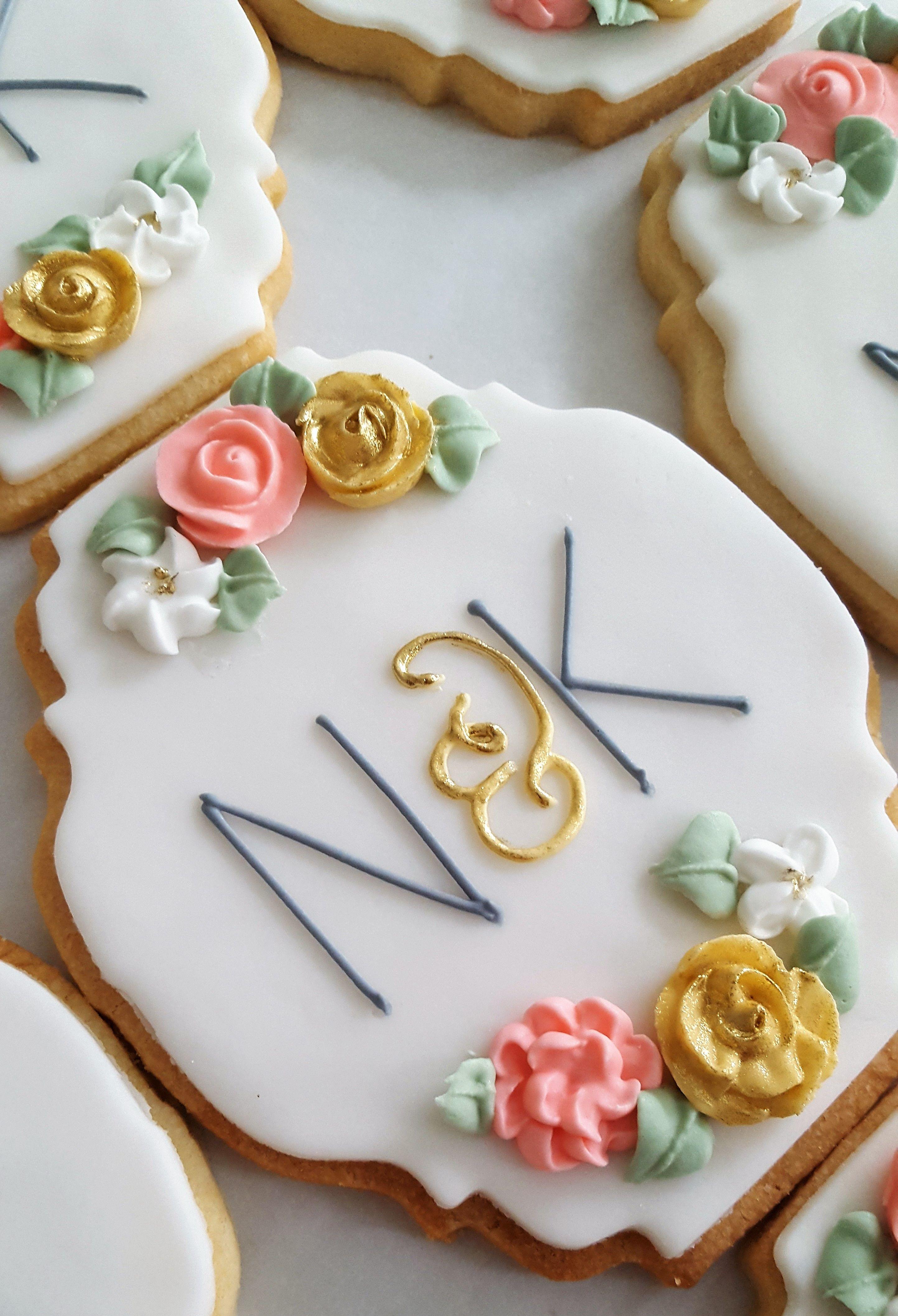 Monogram Cookies for a Wedding Cookiesbym.ca Bridal