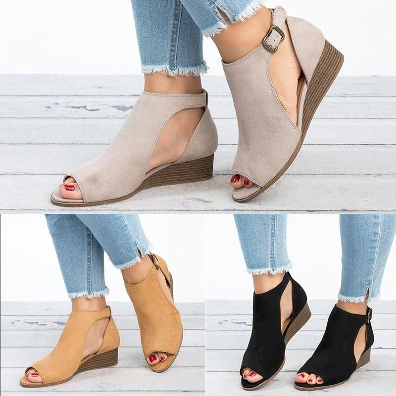 9f9a6bbbea Casual Concise Comfortable Platform High Heels – Kaaum #highheels ...